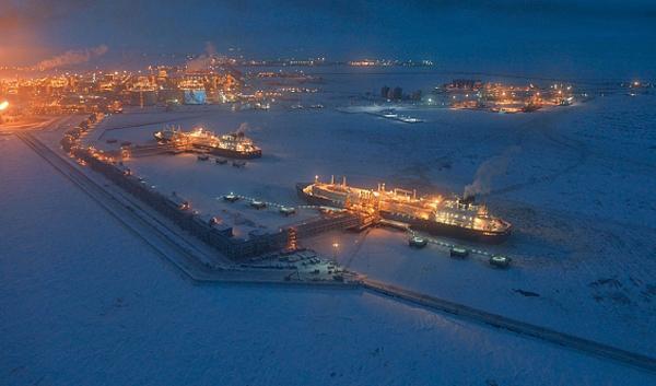 Ямал СПГ, Сабетта, танкер-газовоз Кристоф де Маржери(2017) Фото: правительство.янао.рф