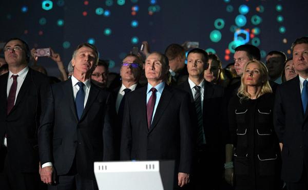 Михельсон, Путин, Миллер, запуск Ямала СПГ(2017)|Фото: пресс-служба Кремля
