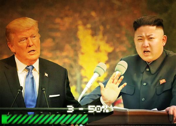 коллаж, сценарии 2018 года, КНДР, Ким Чен Ын, Дональд Трамп(2017)|Фото: Накануне.RU