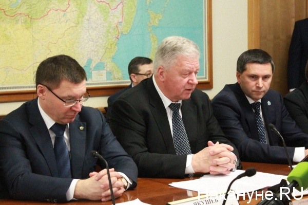 Владимир Якушев, Михаил Шмаков, Дмитрий Кобылкин(2017) Фото: Накануне.RU