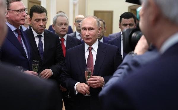 Владимир Путин, губернаторы, новогодний прием(2017)|kremlin.ru