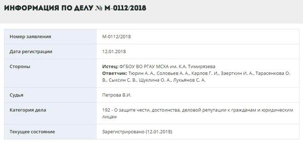 Тимирязевка, иск Золиной(2018)|Фото: Мосгорсуд