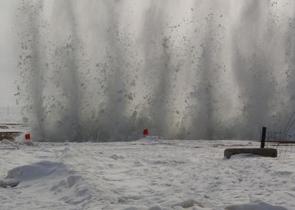 лед взрыв ледостав|Фото: ГУ ПСС ЧО