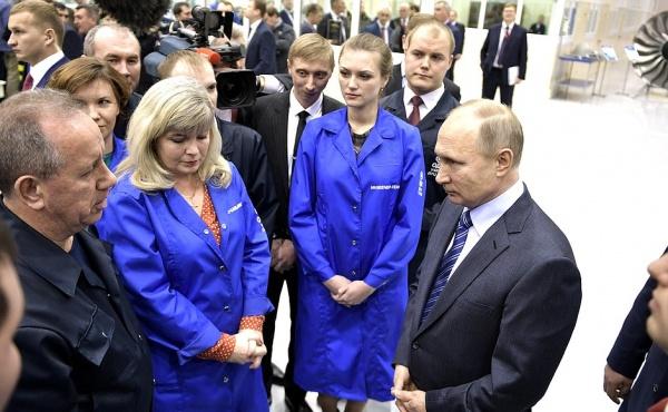 Путин на ОДК-УМПО(2018) Фото: kremlin.ru