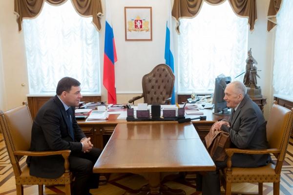 Евгений Куйвашев Владислав Тетюхин(2018) Фото: ДИП губернатора Свердловской области
