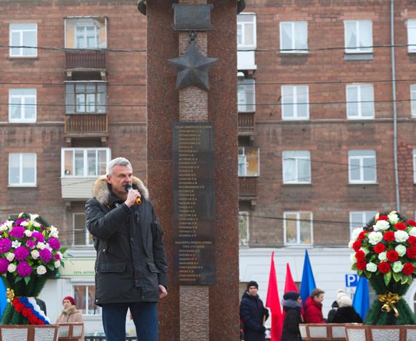 митинг, посвященный 75-й годовщине окончания Сталинградской битвы, Нижний Тагил(2018) Фото: мэрия Нижнего Тагила