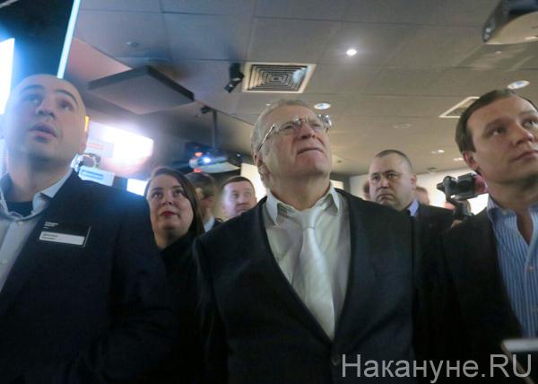 "Владимир Жириновский, ""Ельцин-центр""(2018)|Фото: Накануне.RU"