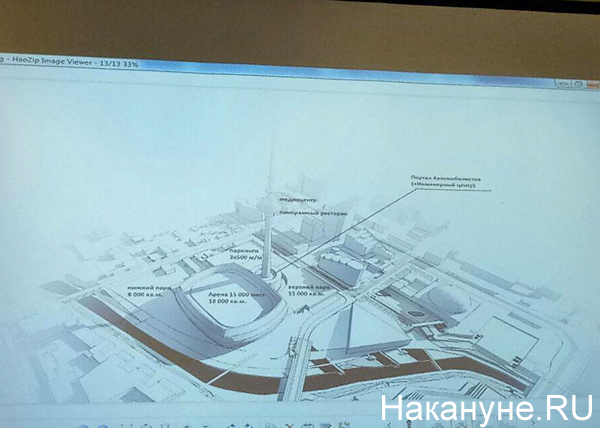 проект ледовой арены, телебашня(2018)|Фото: Накануне.RU