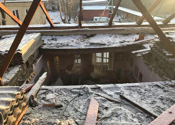 потолок, обрушение, дом, Екатеринбург(2018) Фото: СКР Свердловской области