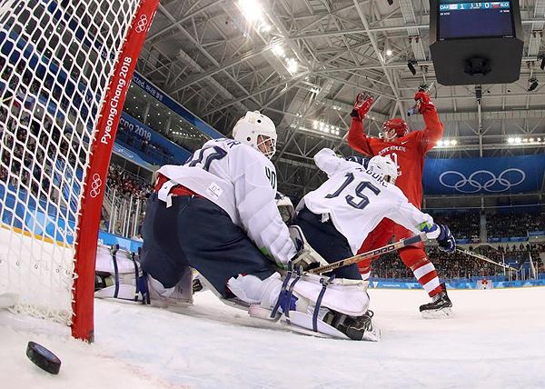 Россия - Словения, хоккей, ОИ-2018(2018)|Фото: REUTERS/Jamie Squire