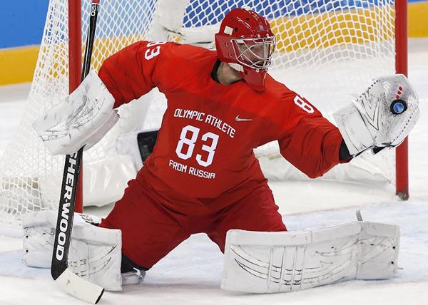Россия - Словения, хоккей, ОИ-2018(2018)|Фото: REUTERS/ Grigory Dukor