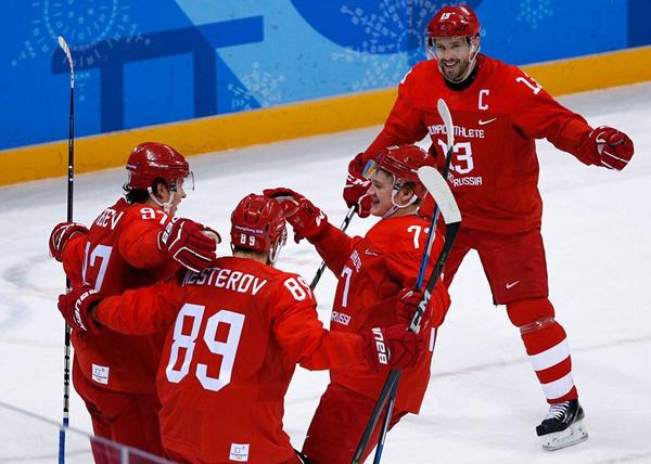 Россия - Норвегия, хоккей, ОИ-2018(2018)|Фото: REUTERS/David W. Cerny