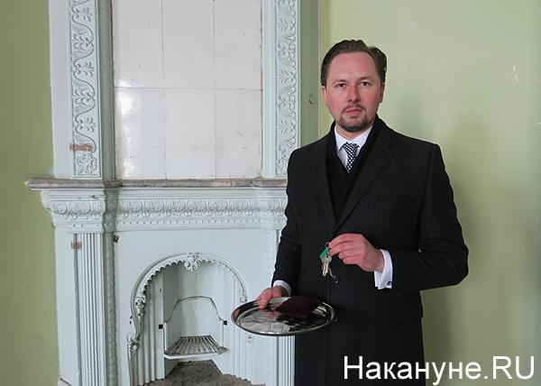 усадьба Железнова, передача ключей, Алексей Бусыгин(2018)|Фото: Накануне.RU