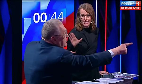 Жириновский, Собчак, передача, дебаты(2018)|Фото: Россия 1