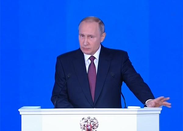 ежегодное послание Президента РФ Владимира Путина Федеральному Собранию(2018)|Фото: Россия 1