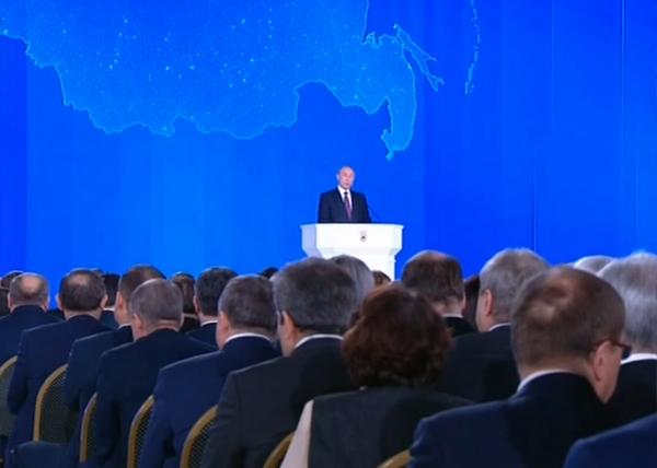 ежегодное послание Президента РФ Владимира Путина Федеральному Собранию(2018) Фото: Россия 1