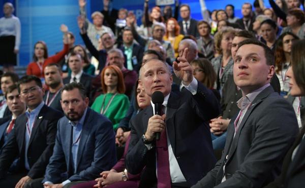 Владимир Путин, медиафорум ОНФ(2018)|Фото: kremlin.ru