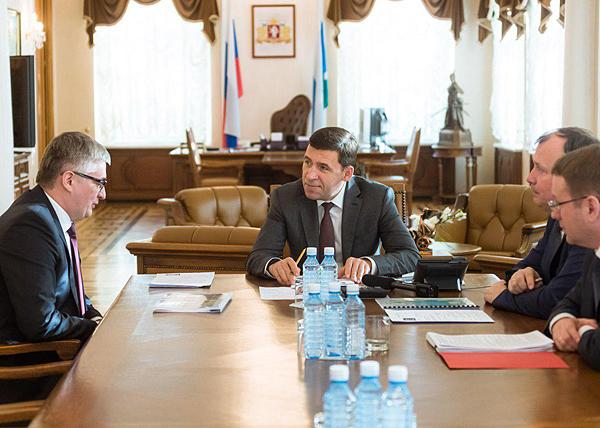 Евгений Куйвашев, Артур Зиганшин(2018)|Фото: Департамент информационной политики губернатора Свердловской области