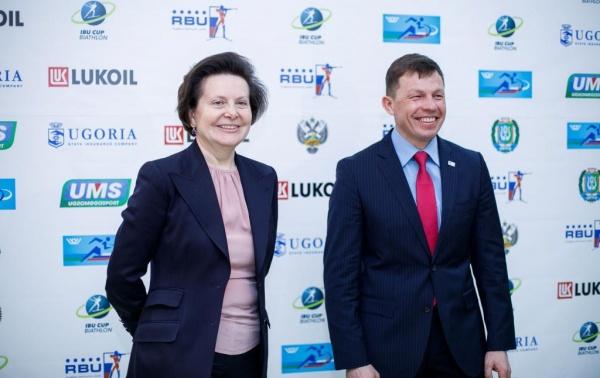 Наталья Комарова, церемония открытия финального этапа Кубка IBU (Европы) по биатлону(2018)|Фото: Правительство Югры