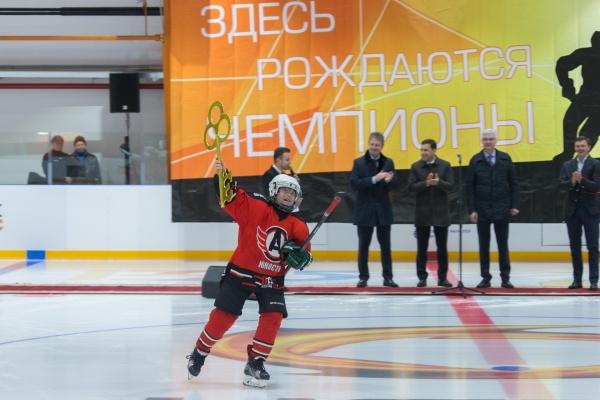 Куйвашев, Козицын, открытие ледовой арены(2018)|Фото: Департамент информационной политики Свердловской области