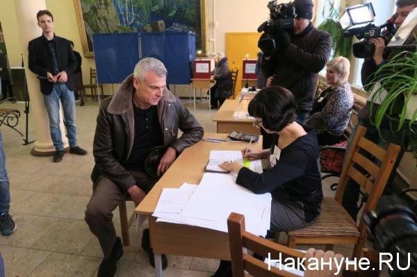 Сергей Носов, выборы президента-2018, голосование(2018)|Фото: Накануне.RU