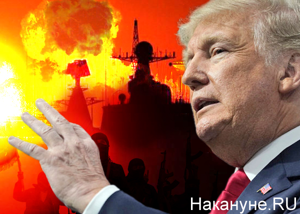 коллаж, Дональд Трамп, США, Сирия, взрыв, атака, огонь(2018)|Фото: Накануне.RU