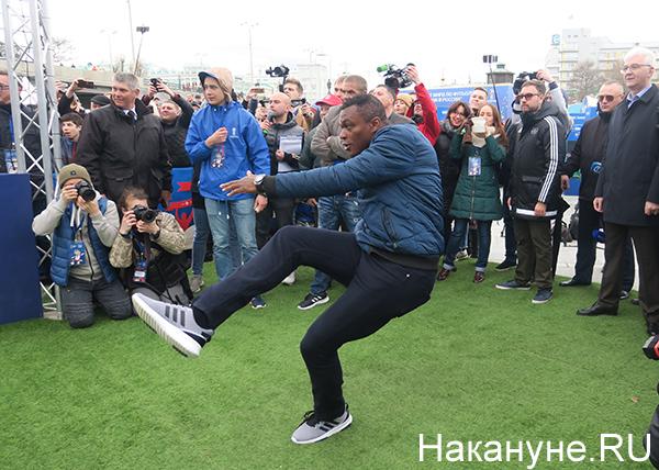 Парк ЧМ-2018, футбол, Екатеринбург, Марсель Десайи(2018) Фото: Накануне.RU