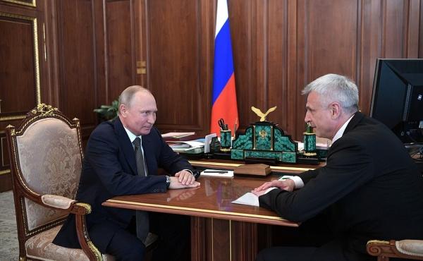 Владимир Путин, Сергей Носов(2018)|Фото: kremlin.ru