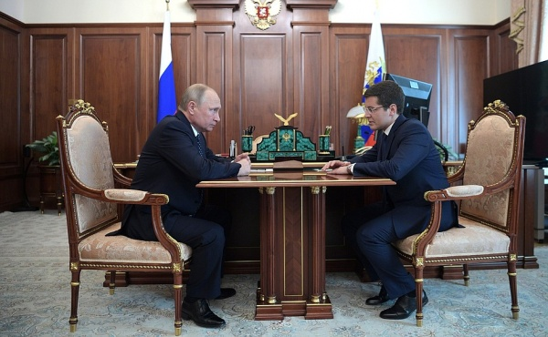 Владимир Путин, Дмитрий Артюхов(2018)|Фото: kremlin.ru
