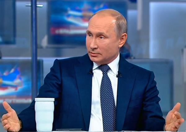 Прямая линия, Владимир Путин(2018)|Фото: Россия 24