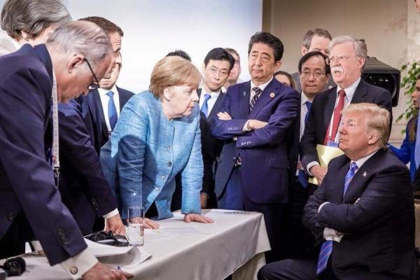 G7, саммит, Дональд Трамп, Ангела Меркель(2018)|Фото:Facebook Мария Захарова