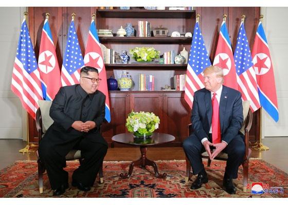 Встреча Ким Чен Ына и Дональда Трампа в Сингапуре(2018)|Фото: kcna.kp