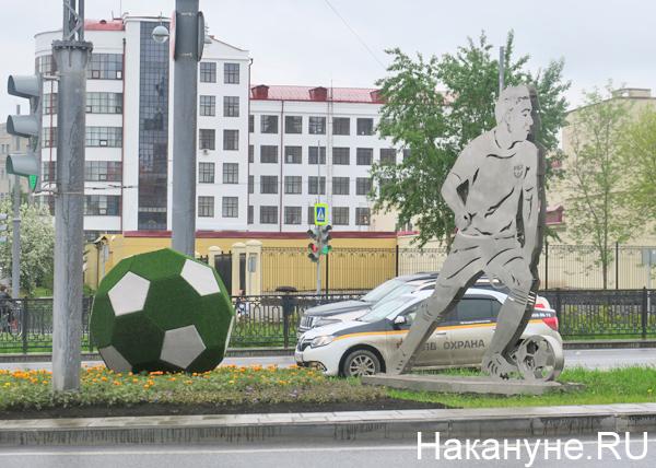 футбол, фигура, ЧМ-2018, ул. Репина, Екатеринбург(2018)|Фото: Накануне.RU