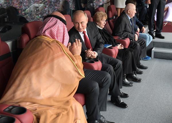 Владимир Путин, принц Саудовской Аравии, ЧМ-2018(2018)|Фото: kremlin.ru