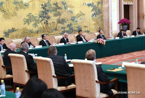 Председатель КНР Си Цзиньпин встретился с главами транснациональных корпораций(2018)|Фото: russian.news.cn