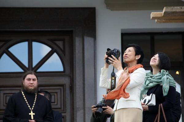 принцесса Японии Хисако Такамадо в Храме-на-крови(2018)|Фото: пресс-служба Екатеринбургской епархии