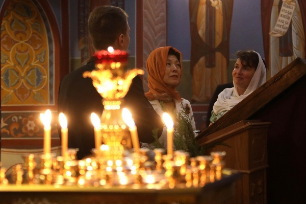 принцесса Японии Хисако Такамадо в Храме-на-крови(2018)|Фото:пресс-служба Екатеринбургской епархии