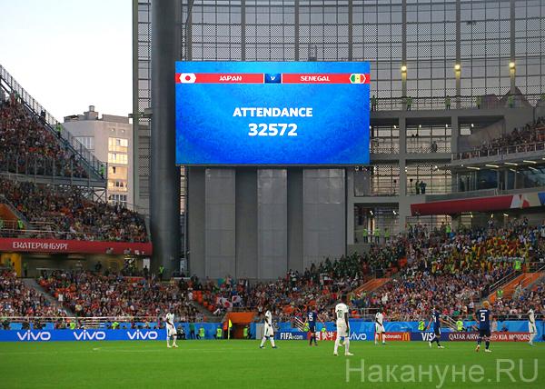 ЧМ-2018, количество зрителей на Екатеринбург-Арене(2018) Фото: Накануне.RU
