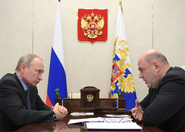 Путина с главой ФНС Михаилом Мишустиным(2018)|Фото: kremlin.ru