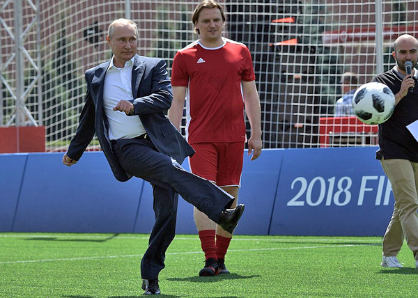 Владимир Путин, парк футбола на Красной площади (2018)|Фото: kremlin.ru