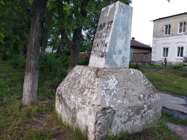 Все, что осталось от памятника Павлику Морозову в Камышлове(2018)|Фото: Личный архив Ростислава Журавлева