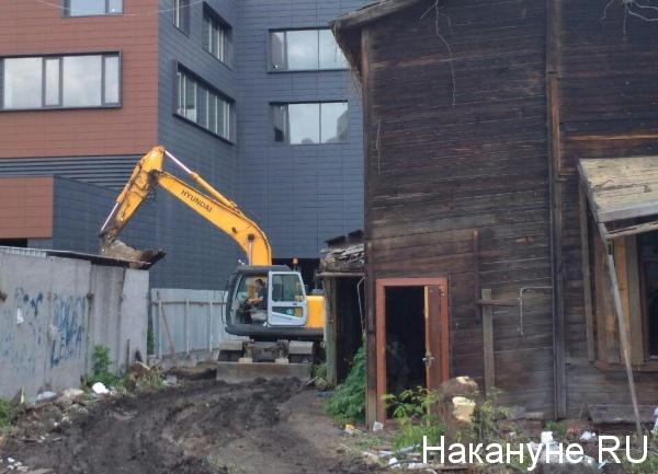 Снос домов на улицах Декабристов, Чапаева, бараки, Екатеринбург(2018) Фото: Накануне.RU