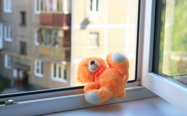 окно, ребенок, мягкая игрушка(2018)|Фото: arnapress.kz