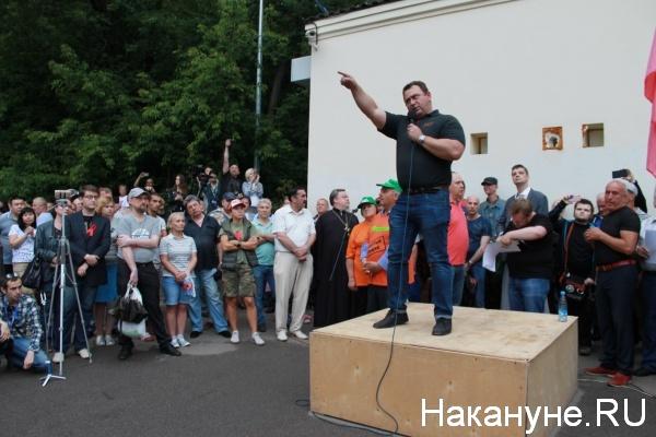 повышение пенсионного возраста, митинг 18 июля, Сокольники, Максим Калашников(2018)|Фото: nakanune.ru