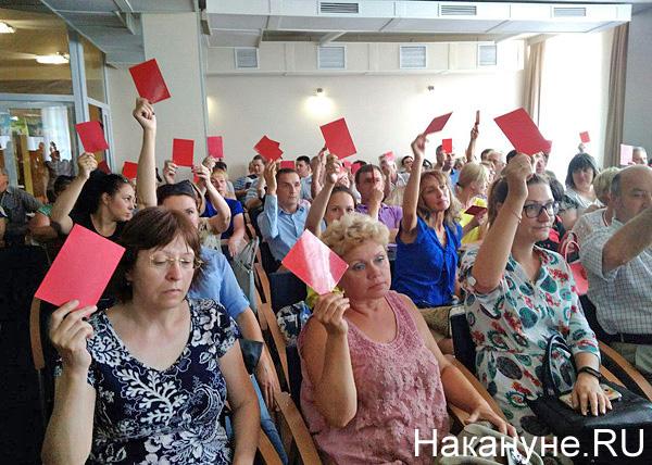 Общественные слушания, голосование(2018)|Фото: Накануне.RU