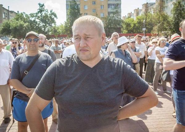 Андрей Альшевских, митинг против пенсионной реформы(2018)|Фото: фейсбук Андрей Альшевских