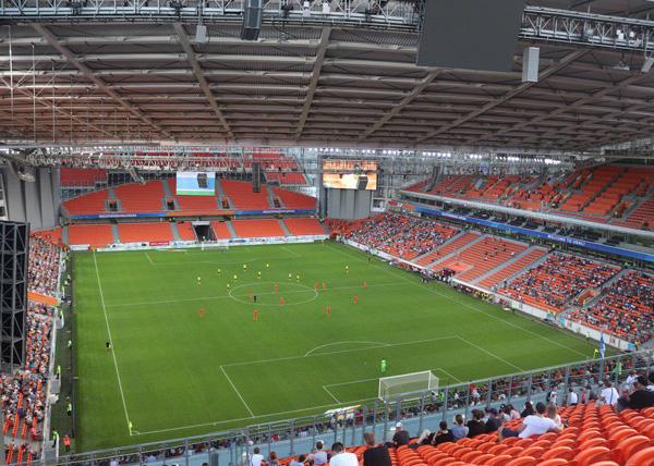 Урал - Анжи, Екатеринбург-Арена, пустые трибуны(2018)|Фото: sports.ru, Аня Адианова