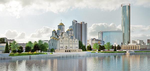 проект собора святой Екатерины(2018)|Фото: Министерство строительства и развития инфраструктуры Свердловской области