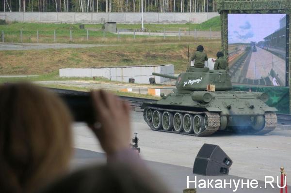 реконструкция Курской битвы, День танкиста, Нижний Тагил(2018)|Фото: Накануне.RU