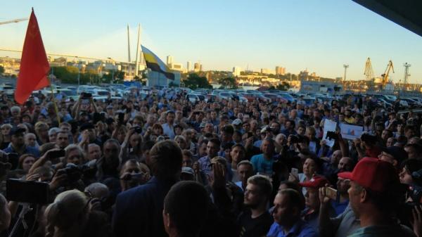 площадь Владивостока, митинг против фальсификации выборов(2018)|Фото: Валерий Рашкин